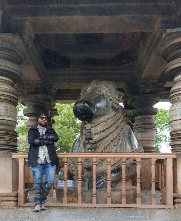 Monolith Nandi Statue at Halebidu