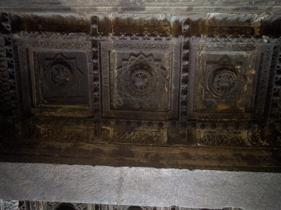 Stone carved roof