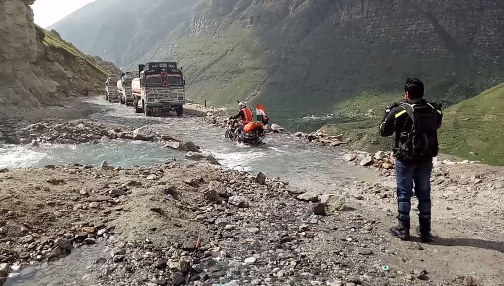 Water Stream Crossing before Khoksar