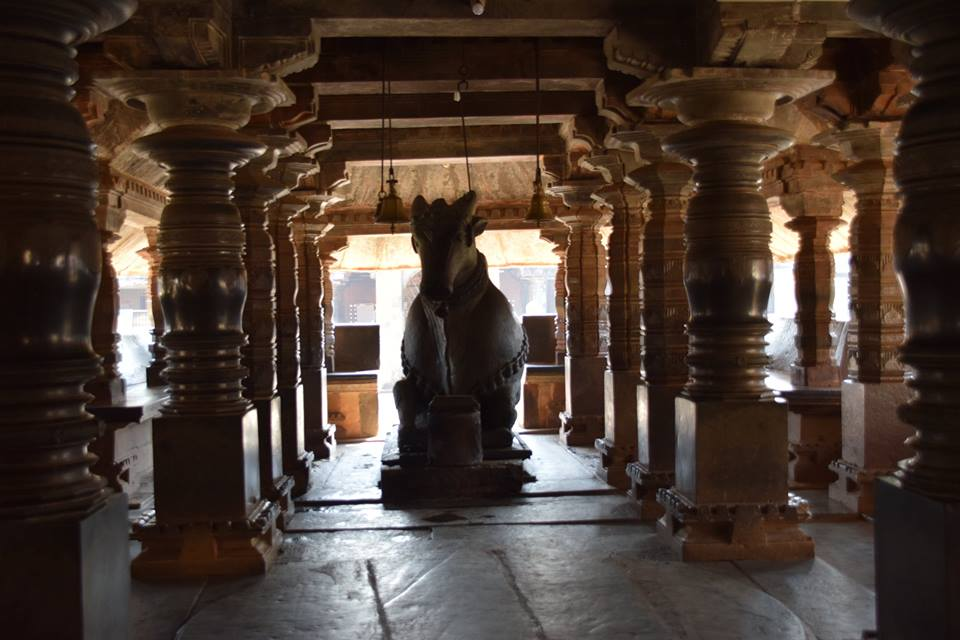 Monolith Nandi at Banavasi Temple