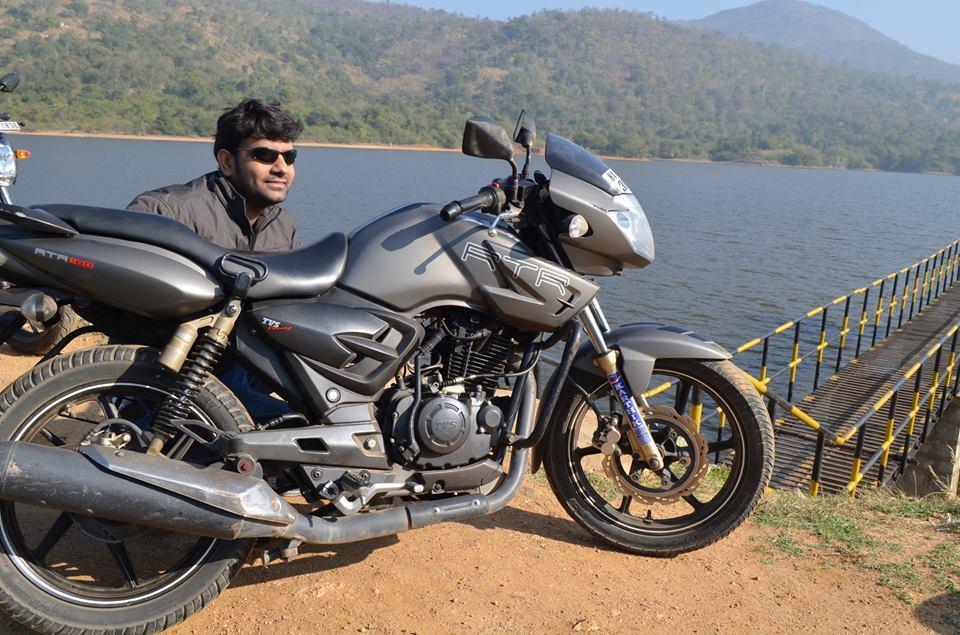 Rajesh with his bike