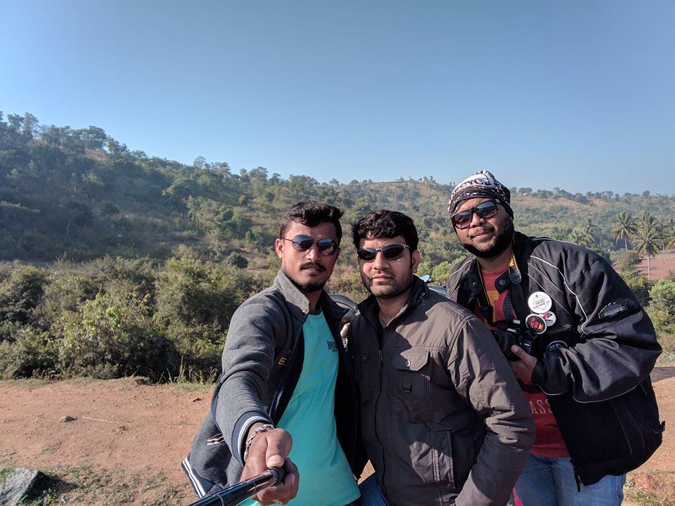 Selfie at Dandiginahalli Dam