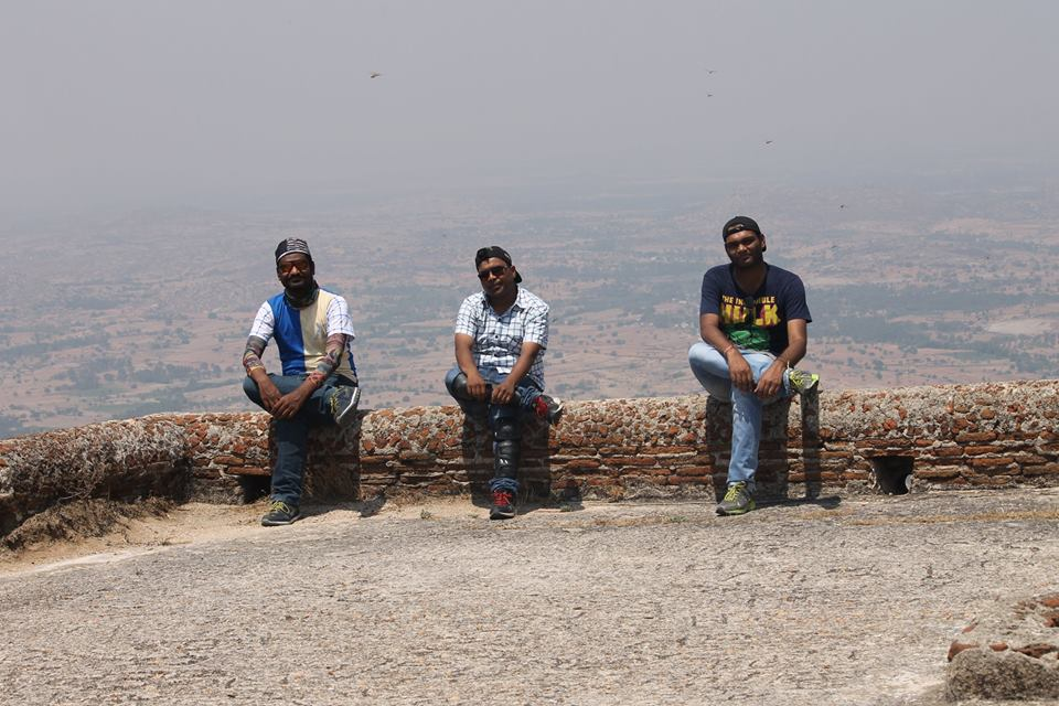 At the top most fort of Madhugiri