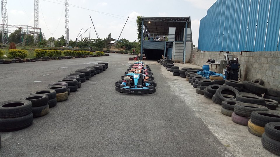 Gokarts lined in the Pits