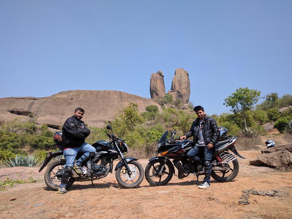 Gokool and Phani at Twin Rocks