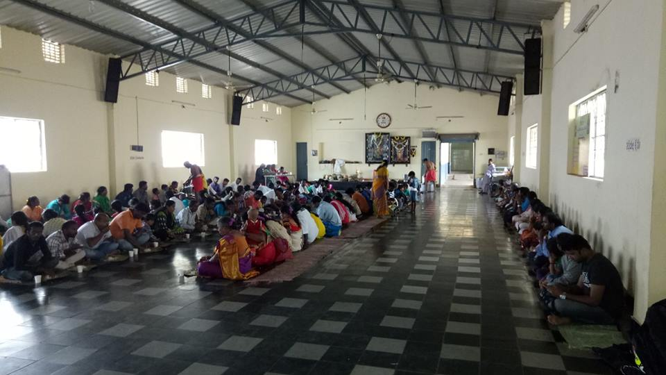 Lunch hall at DD Hills Temple