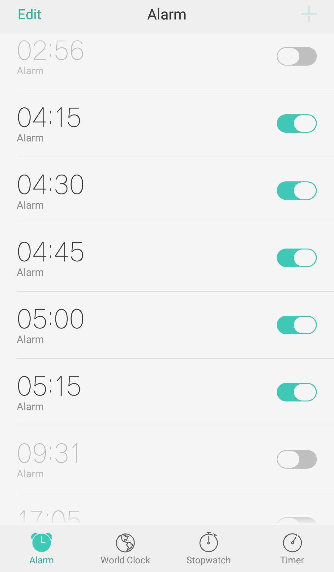 My Alarm Schedules