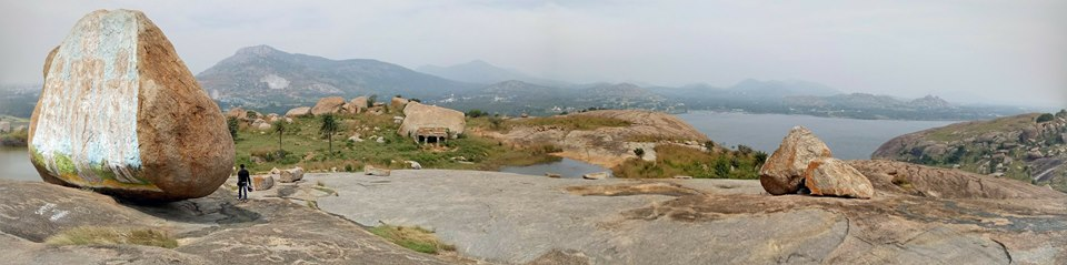 Panoramic Picture of the ponds and the Maidala Lake