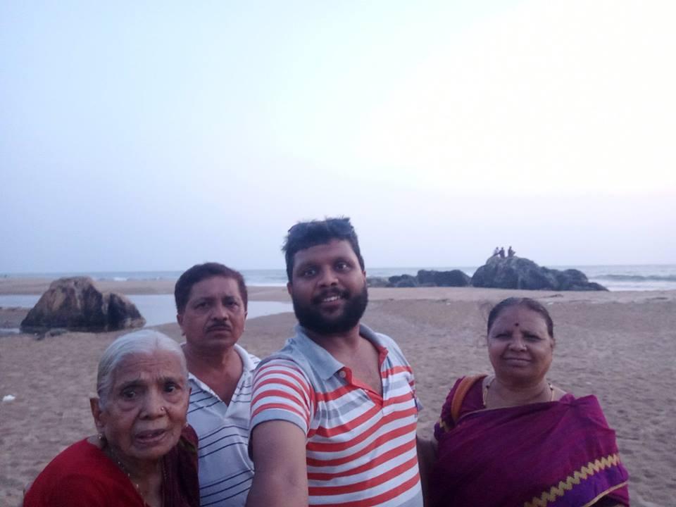 my Family at the Baada Beach