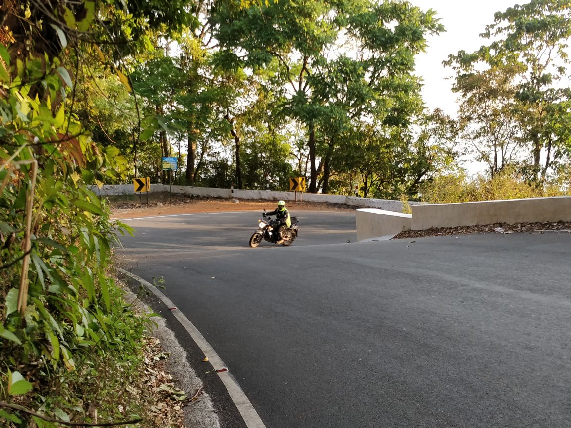 At an hairpin of Agumbe ghat